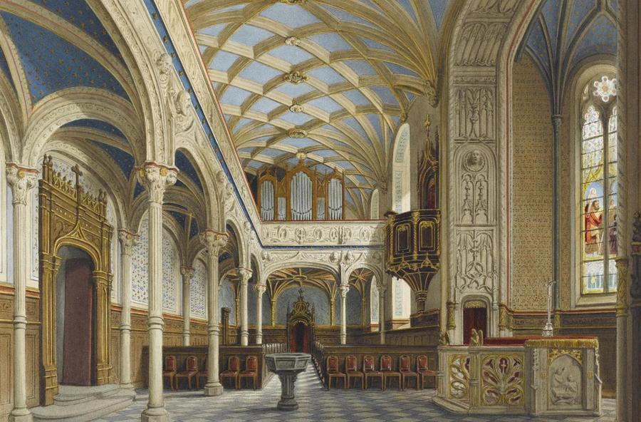 Zeichnung Schlosskirche
