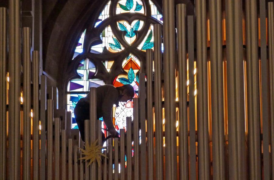 Orgelausreinigung 2021 (c) Wolfgang Most