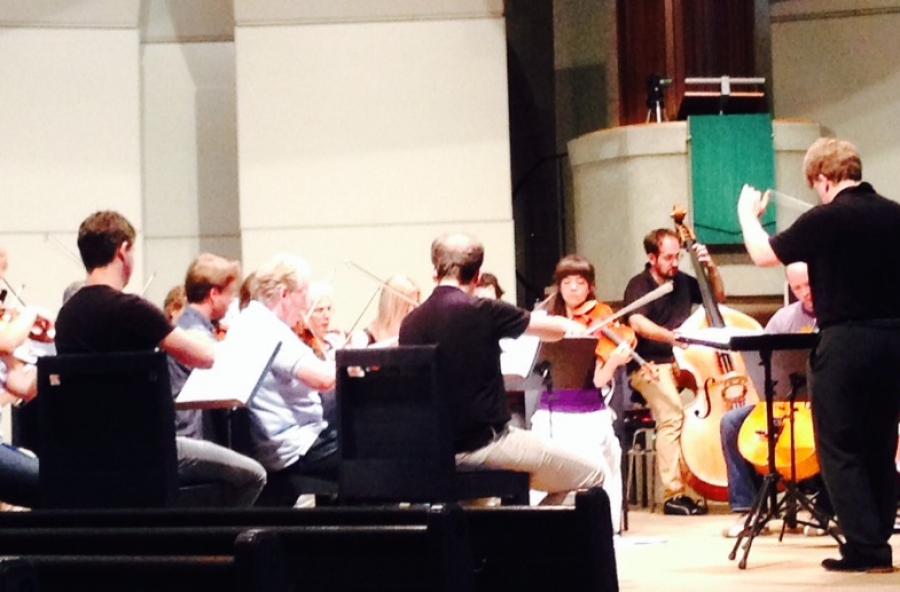 Das Stuttgarter Kammerorchester probt in der Stiftskirche